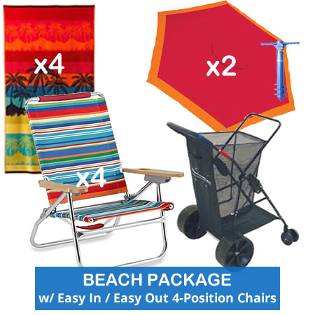 Pleasant Beach Package Easy In Easy Out Beach Chair 12 H 4 Position Home Interior And Landscaping Ferensignezvosmurscom